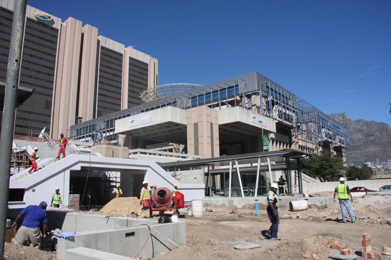 BRT Stations, Greenpoint Cape Town.  Xypex Admix C500NF and post application for suspended slabs and retaining walls.