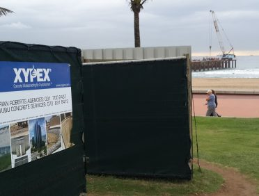 North Beach Pier, Durban. Ethekweni Muncipality. Xypex Admix C500NF utilised for susoended concrete pier slab, piles and columns for durability enhancementin extremely agressive marine environment.