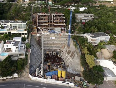 Clifton Terraces. Cape Town Atlantic Seaboard. Xypex Admix C500NF for all below grade elements and for repair of failed joints and defects.